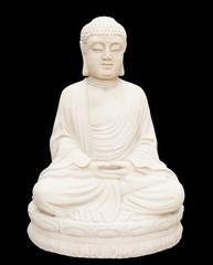 Stone buddha isolated on black