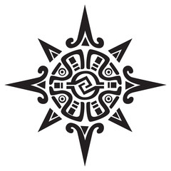 Mayan or Incan symbol of a sun or star