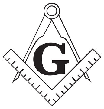 The Masonic Square and Compass symbol, freemason
