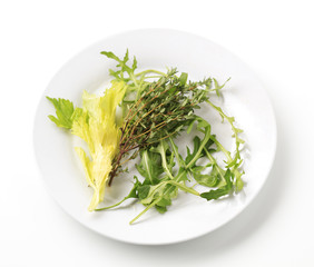 Thyme and greens
