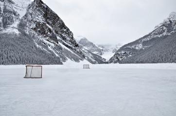 Lake Louise, frozen Lake
