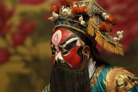 Chinese traditional opera actor with painting face