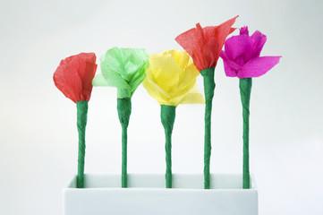 child's paper flower