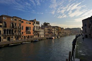 Veduta mattutina del Canale di Cannaregio, Venezia