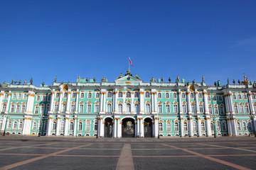Palace Square, Hermitage museum. Saint-Petersburg, Russia