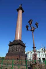 Palace Square,  Alexandrian post. Saint-Petersburg, Russia