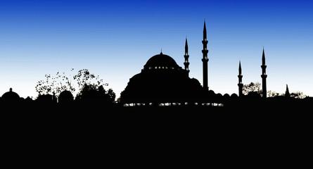 Silhouette of Suleymaniye