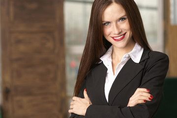 Smiling Business Woman Arms Crossed