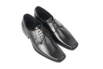 Pair of man's black shoes