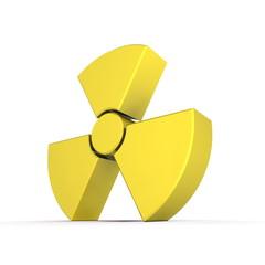 Shiny Yellow Nuclear Symbol