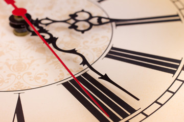 Closeup Roman Numerals On Clock
