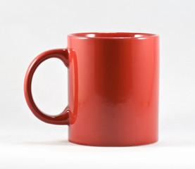 Tazza rossa da latte