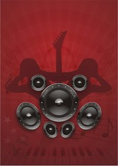 Dance Musik Grunge Rot