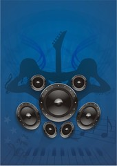 Dance Musik Grunge Blau