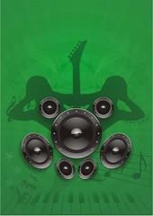 Dance Musik Grunge grün