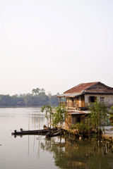 old house near the river