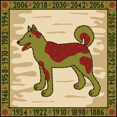 Dog -  symbol of 2006, 2018 years