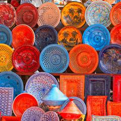 Poster de jardin Tunisie earthenware in tunisian market