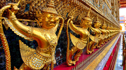 Sculptures of temple Thailand
