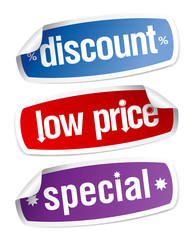 Stickers for discount sales.