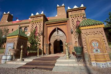 Entrance of a Riad iin Morocco