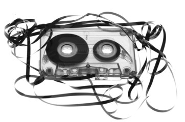 Old broken cassette
