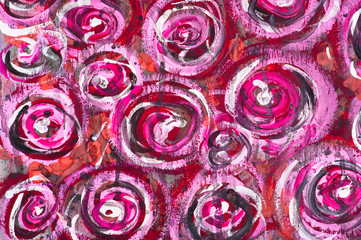 Detail of watercolor painted floral background