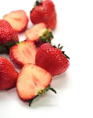 Strawbery isolated on white
