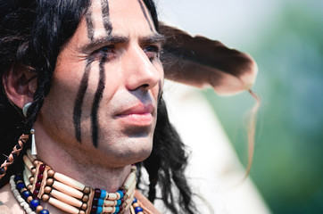 Portrait of american indian