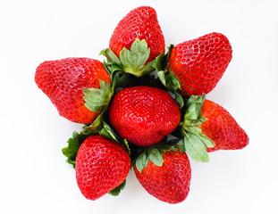 fresh jiucy strawberries