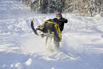 Snowmobile action!