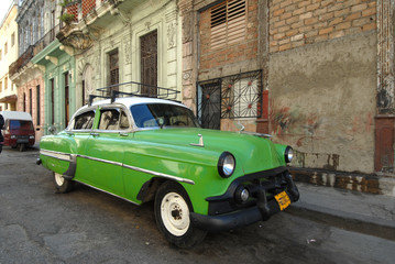 Foto op Aluminium Cubaanse oldtimers Cuba