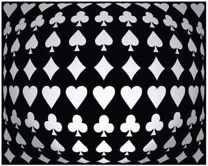 Black-white seamless poker background