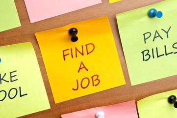 """""""Find a Job"""" post it"""