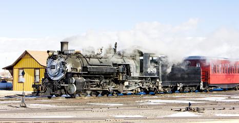 Cumbres and Toltec Narrow Gauge Railroad,Antonito,Colorado,USA