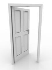 door open 3d white