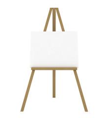 Blank Canvas on an Easel