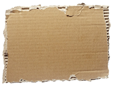 ripped cardboard piece paper note