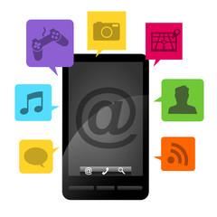 Smartphone diagram black & color