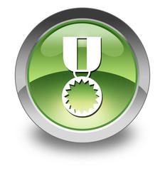 "Green Glossy Pictogram ""Award Medal"""