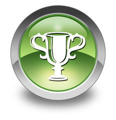 "Green Glossy Pictogram ""Award Cup"""