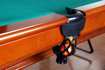 Balls in Billiards table pocket