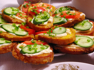 Delicious open sandwiches