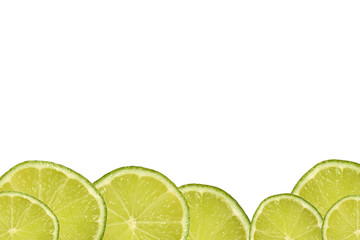 Slices of limes background