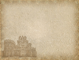 Vintage castle Paper with space for text