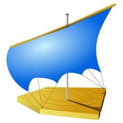 children's toy boat. vector