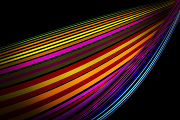 Abstract Colorful Lines Pattern