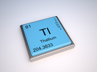 Thallium chemical element of the periodic table with symbol Tl