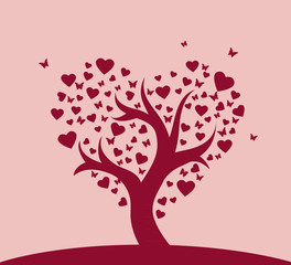 Stylized love tree