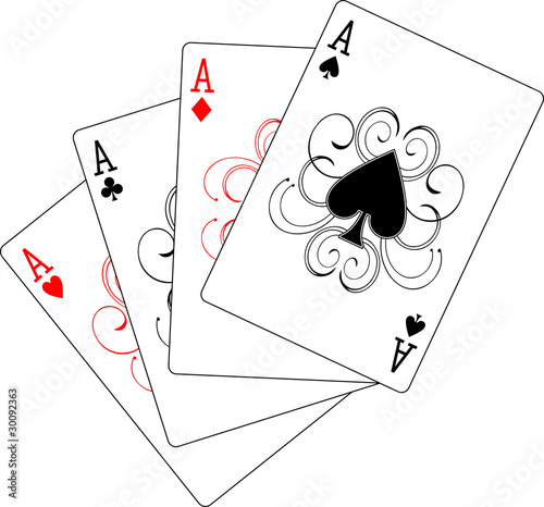 What is the probability of Drawing 4 aces from a deck of cards